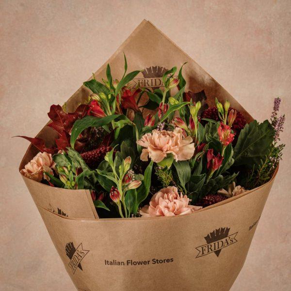 Bouquet Stagionale Rosso, fiori freschi con consegna a domicilio