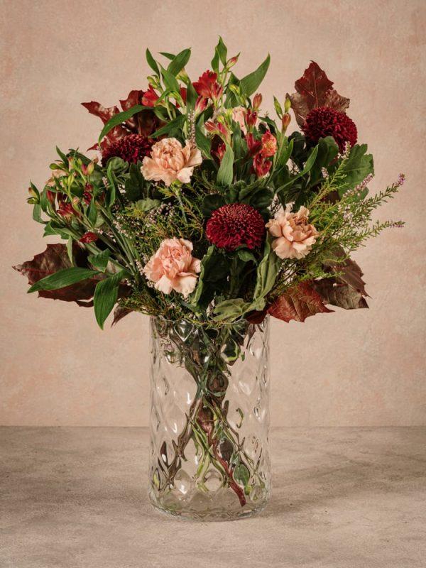 Bouquet Stagionale Rosso, fiori freschi dalle tonalità dell'autunno