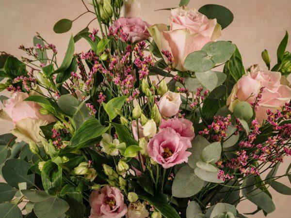 Bouquet Fiori Rosa, tonalità delicate del rosa