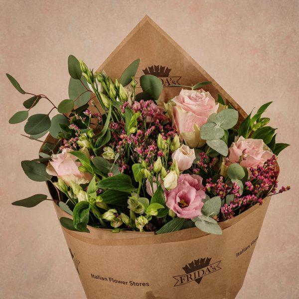 Bouquet Fiori Rosa, fiori freschi Frida's consegna a domicilio