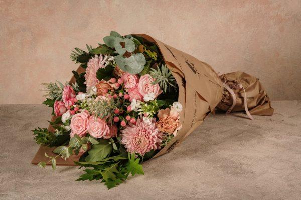 Bouquet Luxury Rosa, mazzo di fiori freschi Luxury