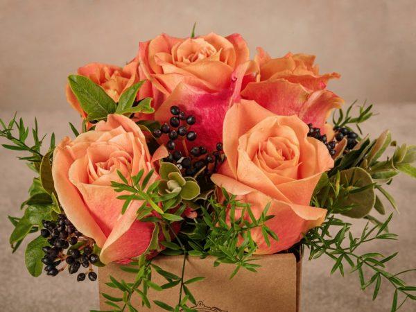 Box Autunno Frida's, fiori in box di cartone riciclato consegna in tutta Italia