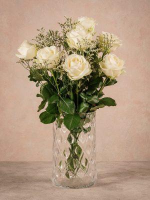 Bouquet Via Col Vento, rose chiare di altissima qualità