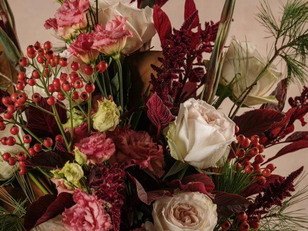 Dettagli fiori freschi Bouquet Winter Luxury, consegna a domicilio in tutta Italia