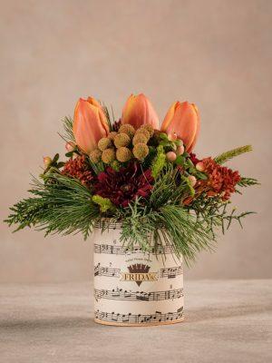 Sushi Orange Passion, piccolo bouquet di fiori arancioni