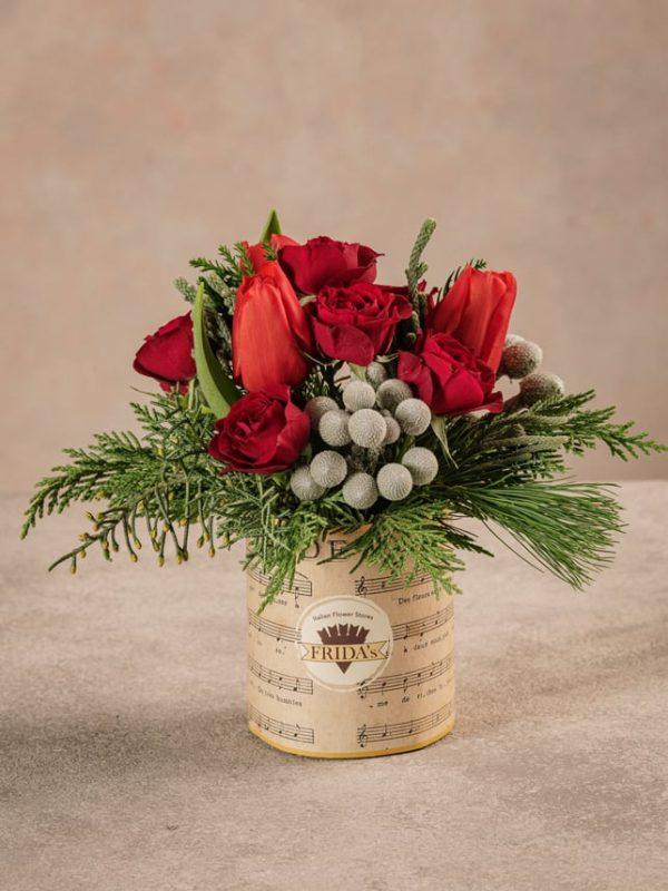 Sushi Red Winter, fiori recisi freschi dalle tonalità del rosso.