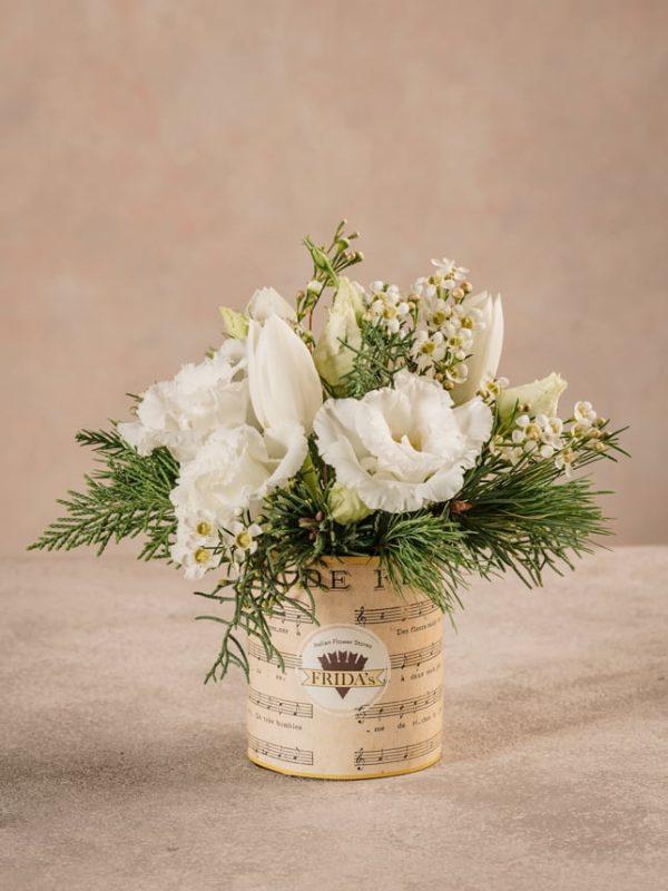 Sushi Super White, fiori invernali bianchi. Consegna a domicilio in tutta Italia